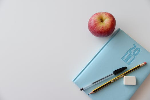 llc bookkeeping photo of book and apple