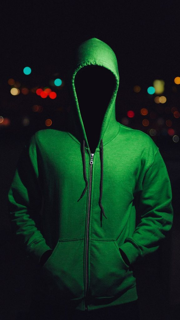 Total Asset Protection requires anonymity - man in hoodie